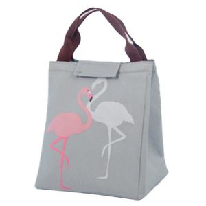 LOT APPAREIL PETIT DEJ Flamingo Portable Canvas Lunch Sac Isotherme Alime
