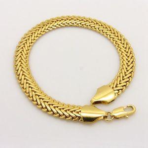BRACELET - GOURMETTE bracelet homme Or jaune 18k plaqué Chaîne bracelet