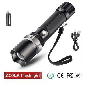 LAMPE DE POCHE Lampe Torche LED Ultra Puissante, XM-T6 5100 Lumen