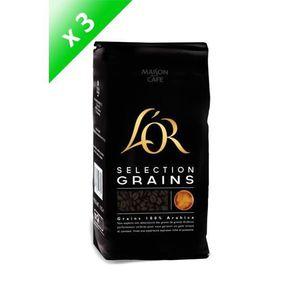 CAFÉ L'OR Café en grains Sélection - 3 paquets de 1 kg