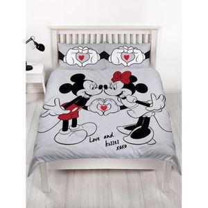 HOUSSE DE COUETTE SEULE Ensemble Housse de Couette Double Mickey et Minnie