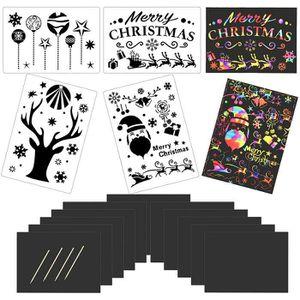 OBJET DÉCORATION MURALE KAKOO 28 PCS Carte à gratter Noël Cadeaux Dessin G