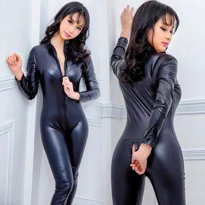 GAINE - COMBINAISON femmes sexy Combinaisons Sous-vêtements en cuir Su