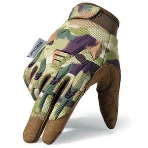 Armée Gants Mitaines Hommes Verts Taille 8 /& 9 German BW Forces paume en cuir