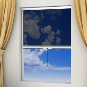 MOUSTIQUAIRE OUVERTURE Moustiquaire enroulable blanche pour fenêtre 100 x