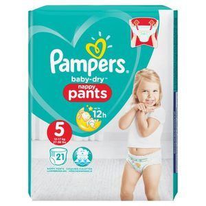 COUCHE Pampers Baby-Dry Pants Taille 5, 11-18 kg, 21 Couc