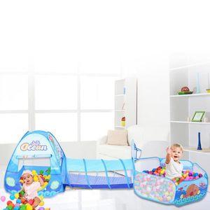 TENTE TUNNEL D'ACTIVITÉ 3 en 1 pliable tente jouet enfants rampant tunnel
