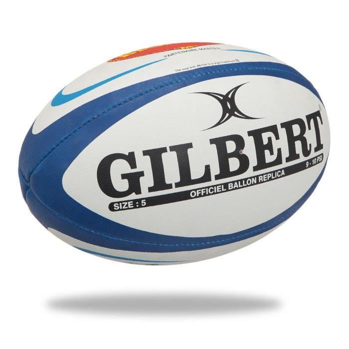 GILBERT Ballon de rugby Replique Club Agen - Taille 5 - Homme