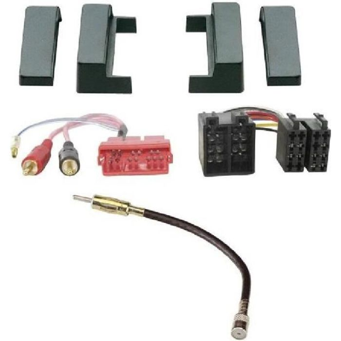 Kit Adaptateur Autoradio 1DIN pour Audi A2 98-05/ A3 99-01/ TT 98-06 + ISO/Mini-ISO + FM - KITFAC090-2 - ADNAuto