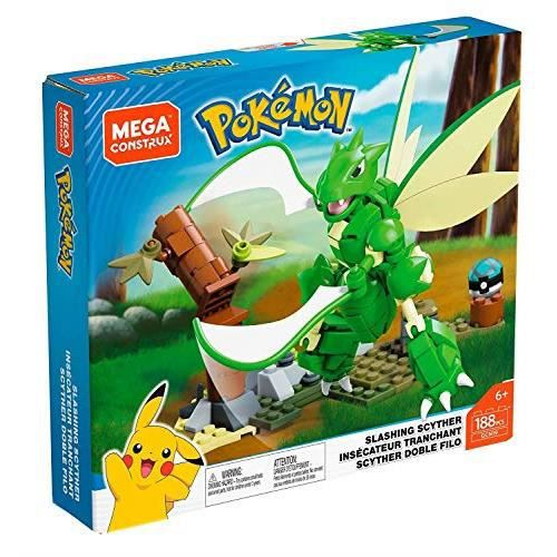 Mega Construx Pokemon Insécateur Tranchant, jeu de construction, 188 pièces, pour enfant dès 6 ans, GCN19 GCN19