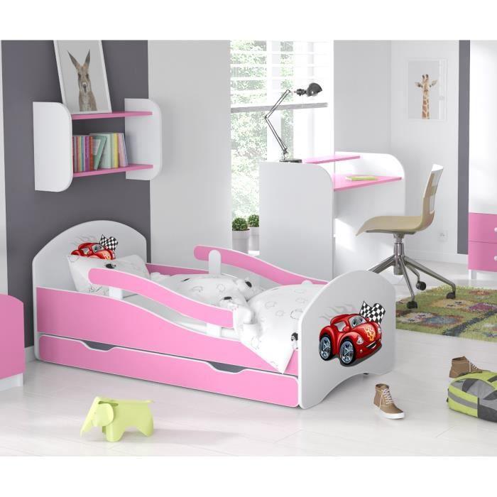 LIT ENFANT Dreams 160x70cm, AVEC MATELAS & BARRE DE SECURITE & TIROIR