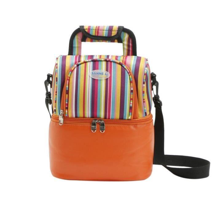 Orange -SANNE – sac à déjeuner isotherme pour pique nique, 9l, multifonction, pour femmes, YQ822