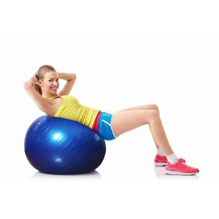 Ballon Suisse de gym 65 cm avec Pompe - Swiss Ball Ballon Fitness Ballon de gymnastique-grossesse Balle de Balance L69453