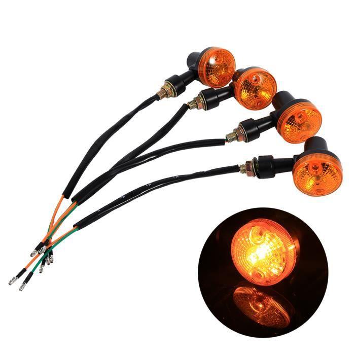 4x clignotants moto universels clignotant ampoule ambre 12V