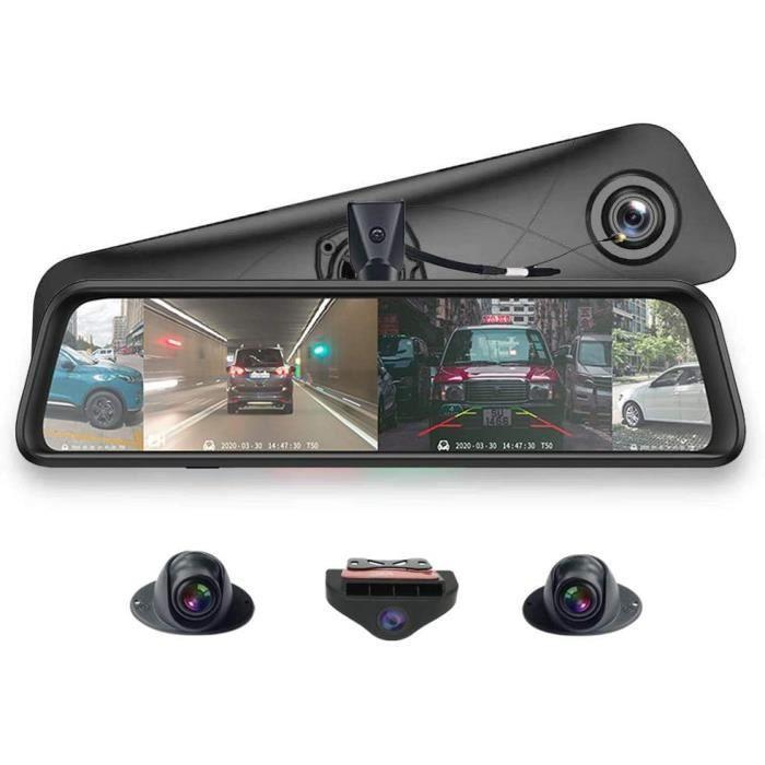 Rétroviseur panoramique 360 ° 12 pouces plein écran 4G Touch IPS spécial voiture Dash Cam Android 5.1 avec GPSBluetoothWiFiFHD 316