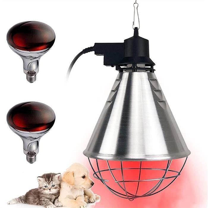 MARHD Lampe chauffante pour Chiots, Lampe chauffante hivernale de volaille pour Agneau de Poulet Chaton, Lampe chauffante Jaune-44