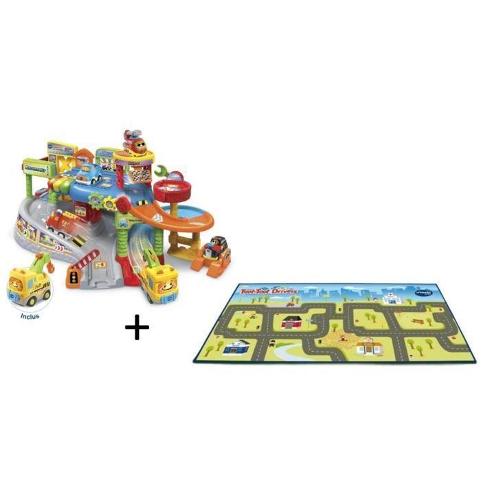 VTECH - Tut Tut Bolides - Mon premier garage interactif (+ Éthan, pro de la dépanne) & Mon tapis route géant