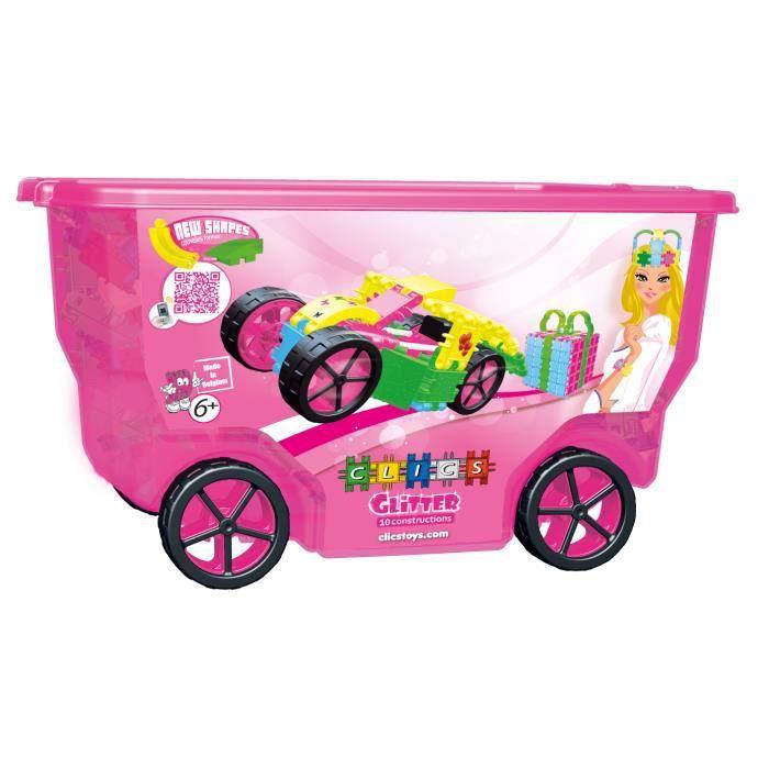 Clics-Jeux de construction-Chariot Glitter