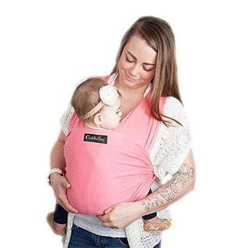 CuddleBug - Echarpe de Portage 9 en 1 - Porte Bébé jusqu'à 16kg - Mains Libres - Couverture de Portage Taille Unique - Douce -