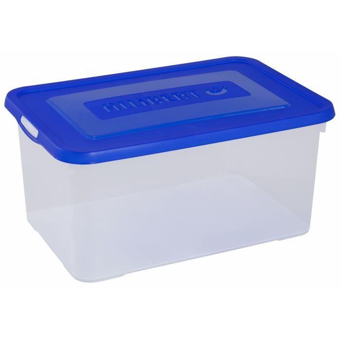 Boîte de rangement bleu 50 L - 243816