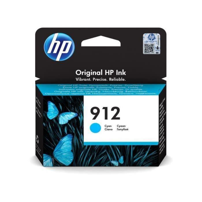 HP 912 Cartouche d'encre Cyan authentique (3YL77AE) pour HP OfficeJet Pro 8010 series / 8020 series