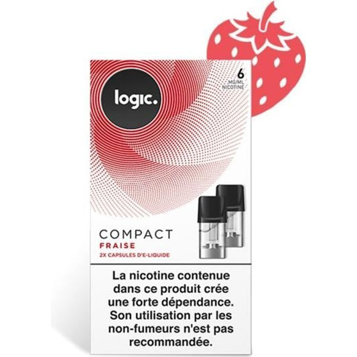 BOÎTE DE 2 CAPSULES LOGIC COMPACT FRAISE 06MG