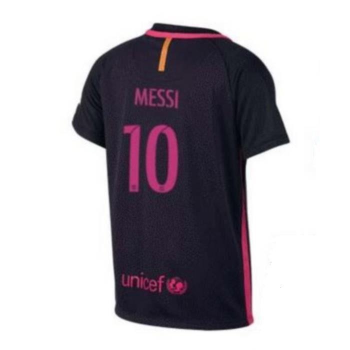 Maillot Officiel Nike Enfant FC Barcelone Away Flockage Officiel Messi Numéro 10 Saison 2016-2017