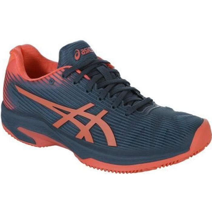 Chaussures ASICS Femme Solution Speed FF Clay Terre Battue Indigo/Papaye PE 2019