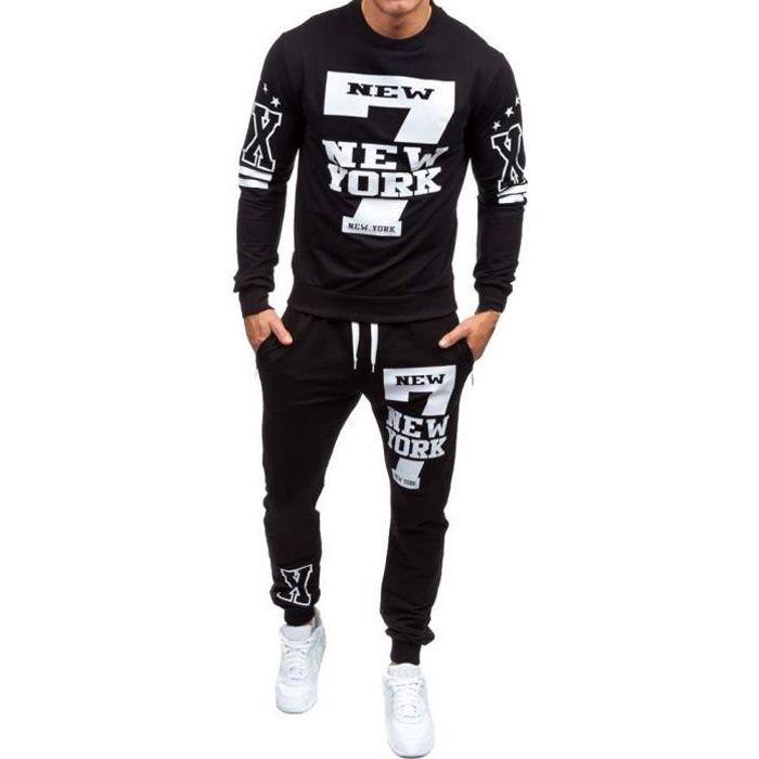 Ensemble de pantalons de survêtement imprimés pour hommes, automne-hiver LJH80814331BKL_oaw