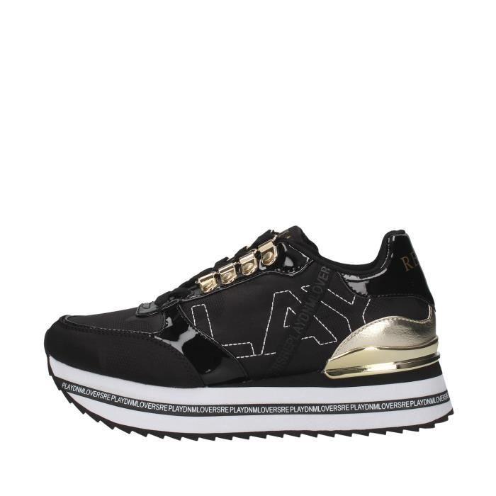 Replay GWS3D.003.C0002T chaussures de tennis Avec coin Femme NOIR