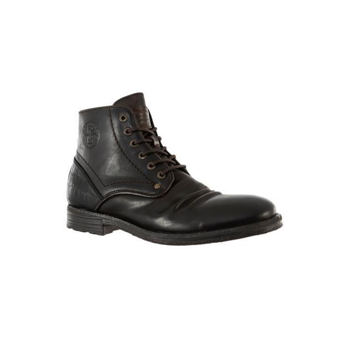 chaussures ville redskins bambol a1 chataigne+noir
