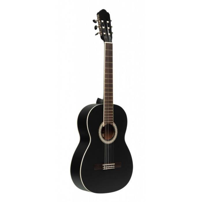 Stagg SCL70-BLK - Guitare classique 4/4 epicea/noir
