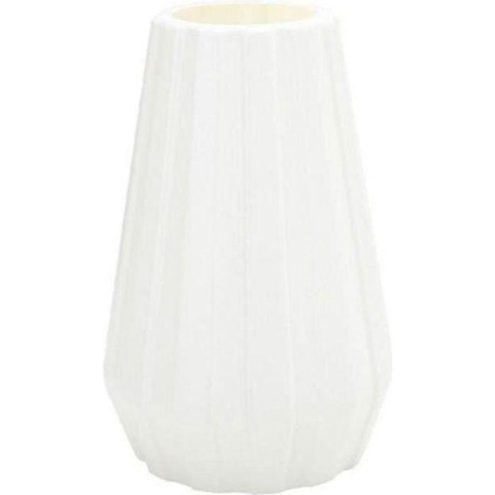 Plastique Vase de fleurs Grand sol Usine Vases Salon Moderne Bureau Salle Décoration Blanc