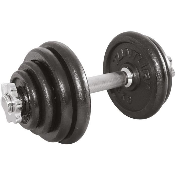 TUNTURI Haltère musculation 15kg 1 barre noir