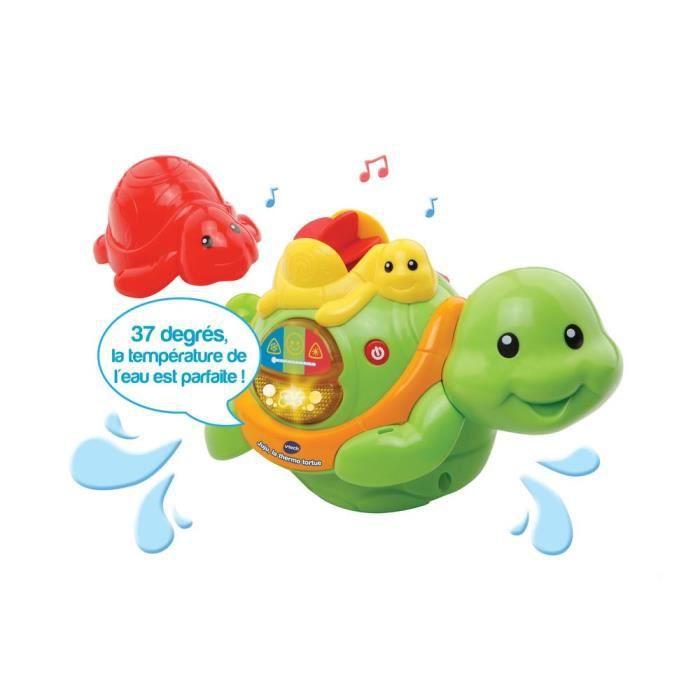 VTECH BABY - Jouet de Bain - Juju, la thermo tortue