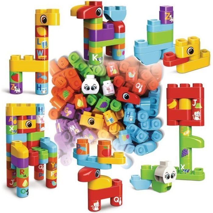 VTECH - Bla Bla Blocks - Coffret 50 blocs (sans électronique)