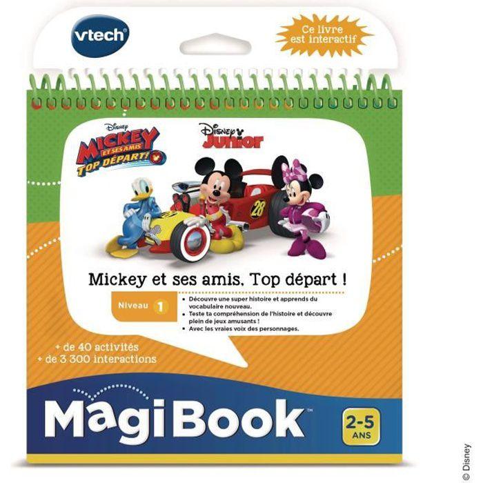 VTECH - Livre Interactif Magibook - Mickey et ses Amis, Top Départ