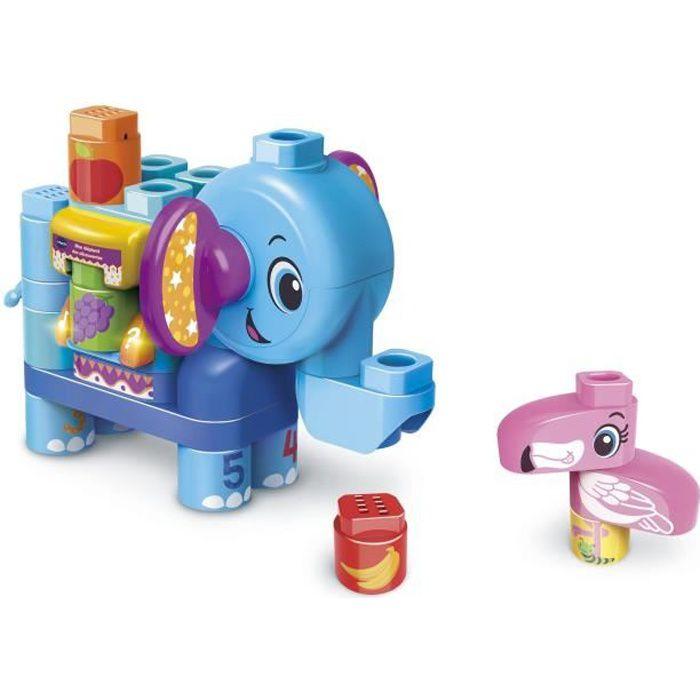 VTECH - Bla Bla Blocks - Mon Eléphant Des Découvertes - Blocs Parlants à Connecter