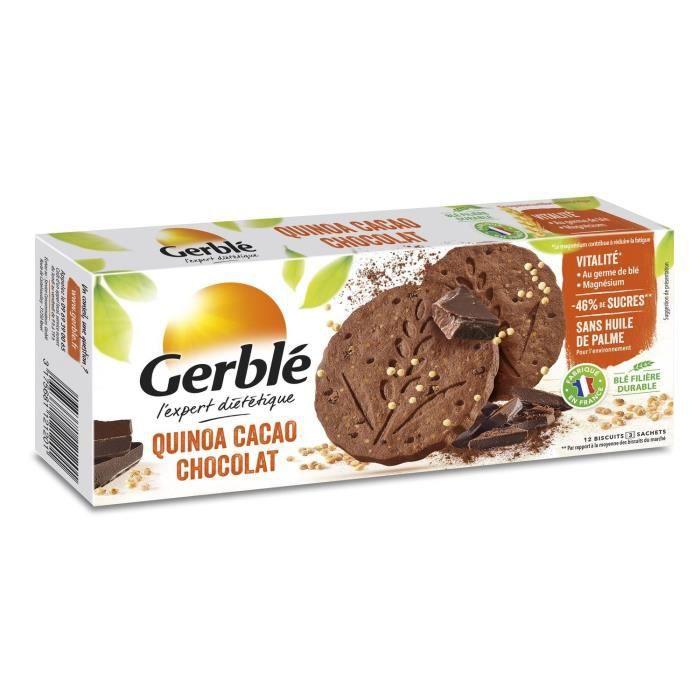 GERBLE Biscuits au chocolat, quinoa et cacao - 132 g