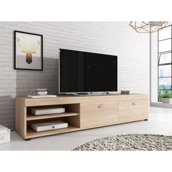 meuble tv chene clair achat vente meuble tv chene. Black Bedroom Furniture Sets. Home Design Ideas
