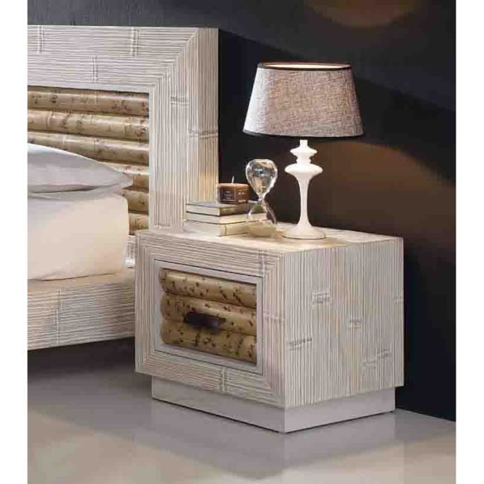 Table de nuit en bambou mod le bela achat vente for Modele table de nuit