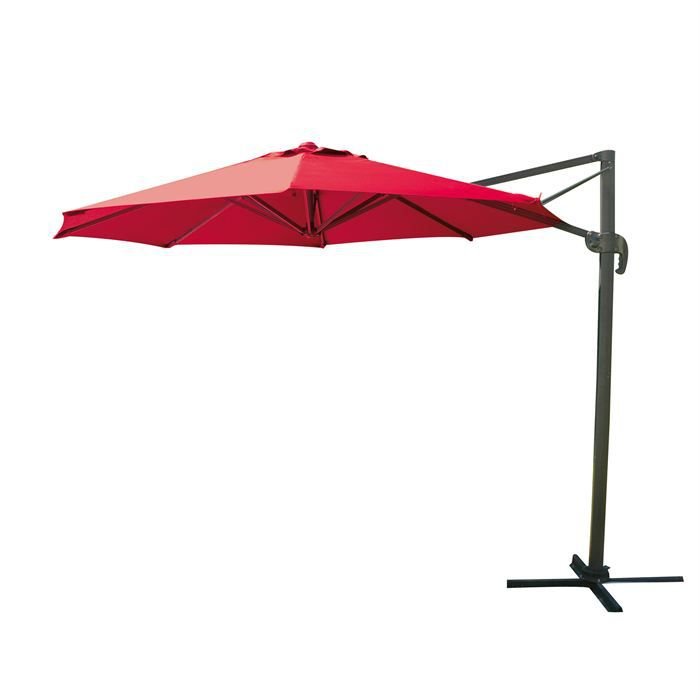 parasol d port rond bali rouge achat vente parasol ombrage parasol d port rond bali. Black Bedroom Furniture Sets. Home Design Ideas