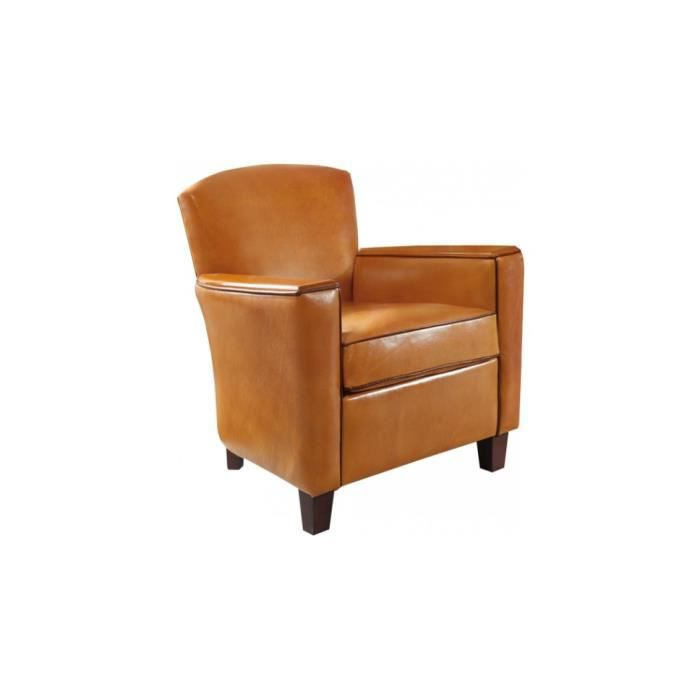 fauteuil club arrondi verdi cuir basane miel achat vente fauteuil cdiscount. Black Bedroom Furniture Sets. Home Design Ideas