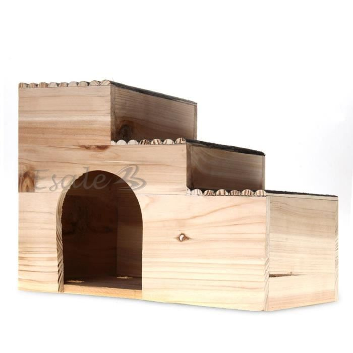maison cage lapini re clapier abri bois pour lapin cochon d 39 inde hamster achat vente cage. Black Bedroom Furniture Sets. Home Design Ideas