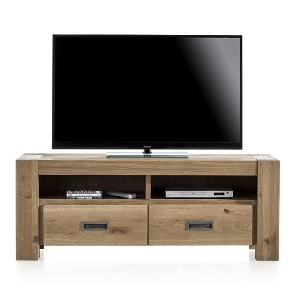meuble tv 140 cm ch ne massif santorini h h achat. Black Bedroom Furniture Sets. Home Design Ideas