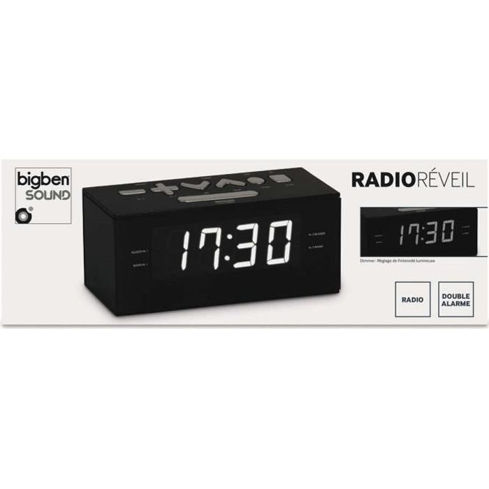 9288c65a4281df Radio-réveil Audiosonic CL-1492 – Double alarme – Radio FM ...