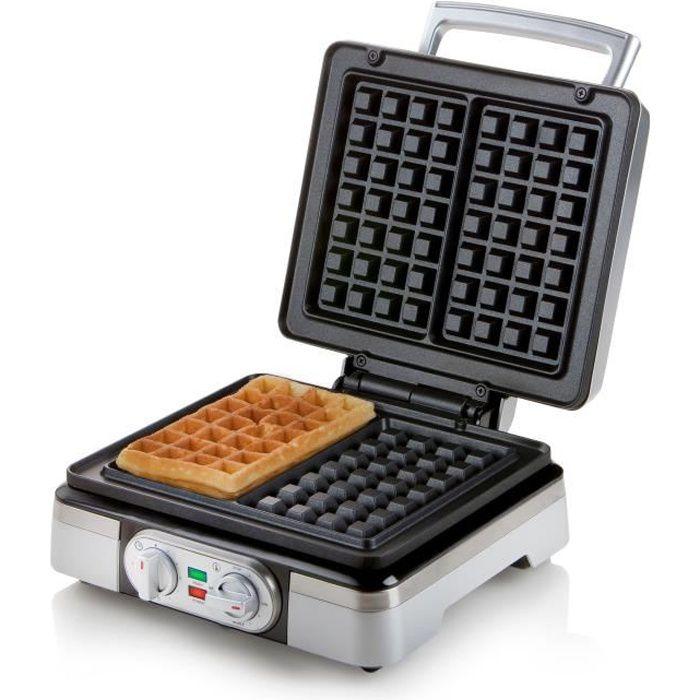 Rubyu Gaufrier /électrique poign/ée Cool Touch Machine /à Sandwich voyants LED Pieds antid/érapants gaufrier rev/êtement antiadh/ésif d/étachable 3 en 1 Gril /à Sandwich 1200 Watts