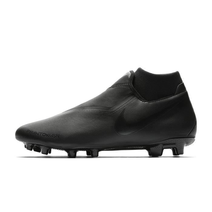 ad0ce4db3690e Chaussures football Nike Phantom Vision Academy DF MG Noir-Gris ...