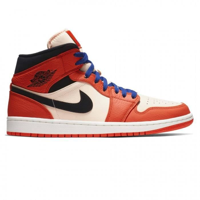 huge selection of 1d7ca e36e7 Basket mode Nike Air Jordan 1 Mid Se Orange