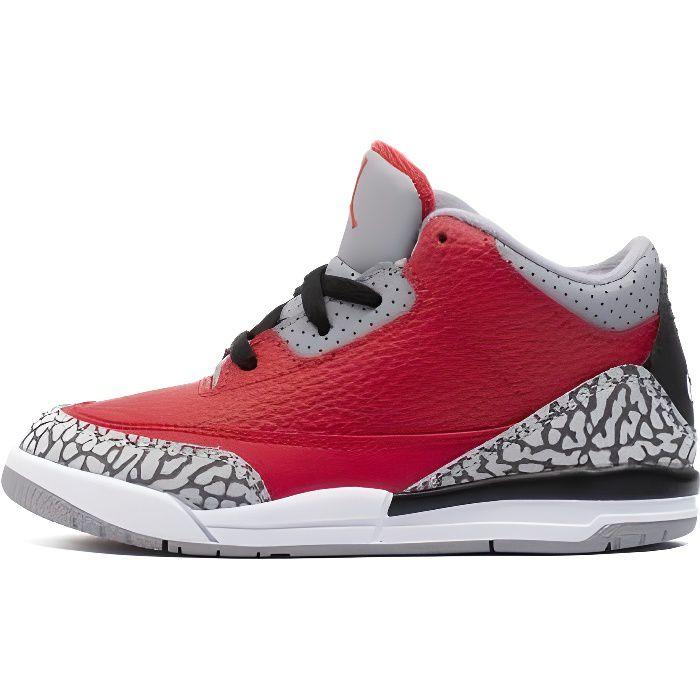 NIKE Baskets Air Jordan 3 Retro SE TD Rouge Enfant Rouge ...